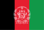 Flag of country Afghanistan with the top-level-domain . af