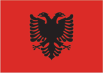 Flagge des Landes Albanien mit der Top-Level-Domain . al