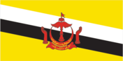 Flagge des Landes Brunei Darussalam mit der Top-Level-Domain . bn