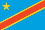 Flagge des Landes Kongo-Kinshasa mit der Top-Level-Domain . cd