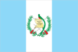 Flagge des Landes Guatemala mit der Top-Level-Domain . gt