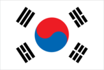Flagge des Landes Republik Korea mit der Top-Level-Domain . kr