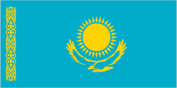 Flagge des Landes Kasachstan mit der Top-Level-Domain . kz