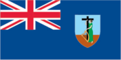 Flag of country Montserrat with the top-level-domain . ms