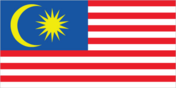 Flagge des Landes Malaysia mit der Top-Level-Domain . my