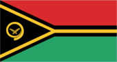 Flagge des Landes Vanuatu mit der Top-Level-Domain . vu