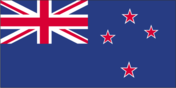 Flagge des Landes Neuseeland mit der Top-Level-Domain . nz