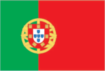 Flagge des Landes Portugal mit der Top-Level-Domain . pt