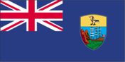Flag of country Saint Helena with the top-level-domain . sh