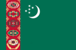 Flagge des Landes Turkmenistan mit der Top-Level-Domain . tm